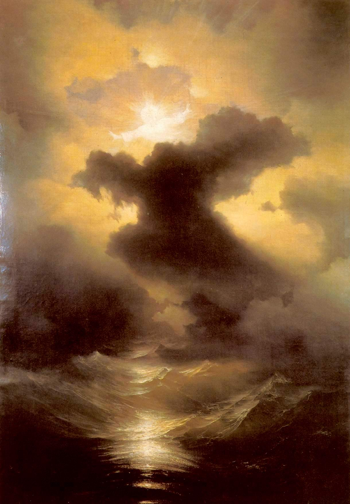 Chaos. The Genesis. Painting by Ivan Aivazovsky.