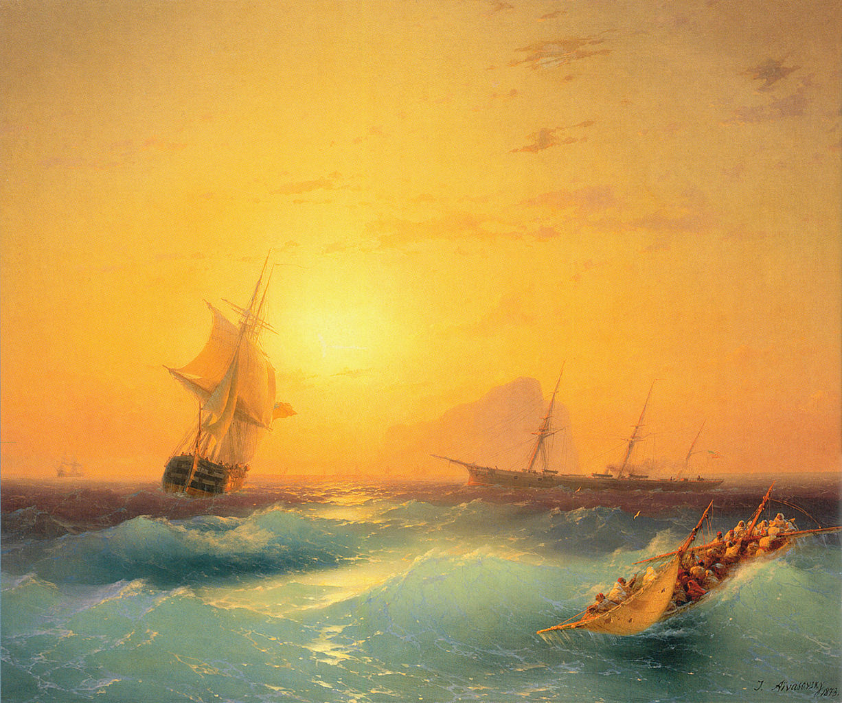 Gibraltar. Painting by Ivan Aivazovsky.