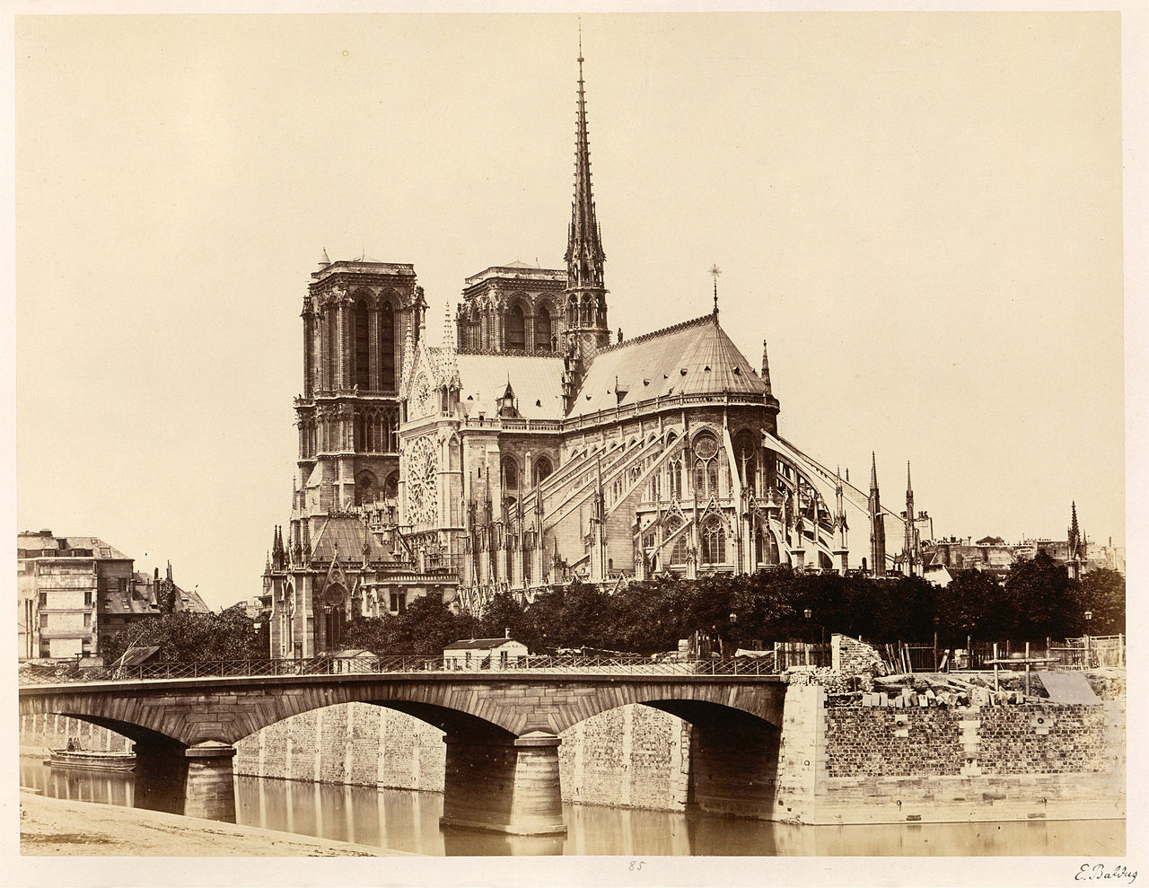 East facade of Notre-Dame in the 1860s