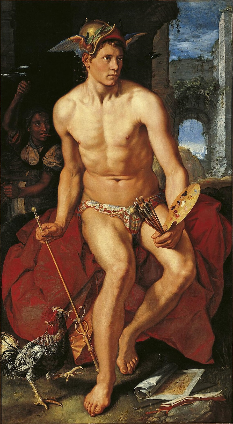 Mercury, a painting by Hendric Goltzius