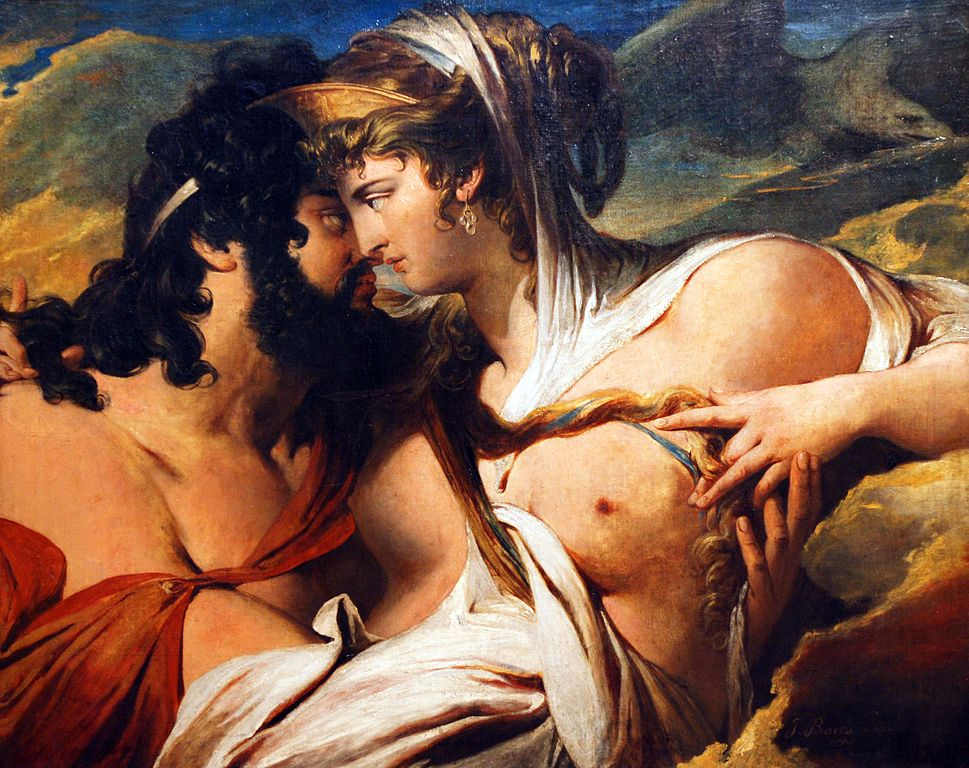 Jupiter beguiled by Juno on Mount Ida, painting by James Barry