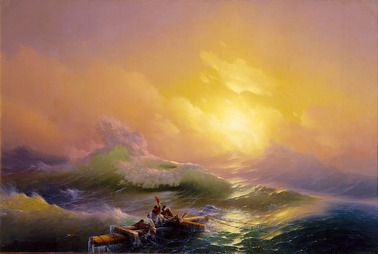 The Ninth Wave. Painting by Ivan Aivazovsky.