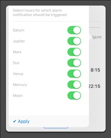 Planetary hour calculator alarm classical planets selector