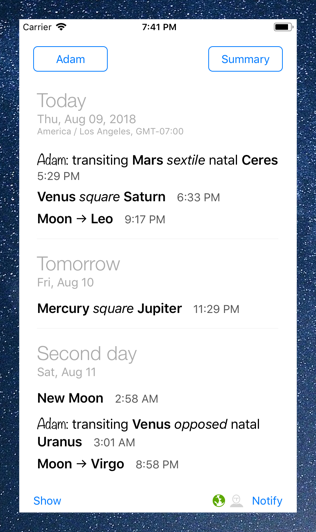 Time Nomad upcoming events