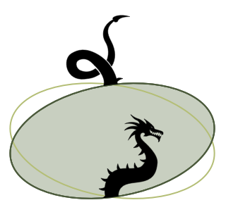 The lunar nodes as dragon's head and tail