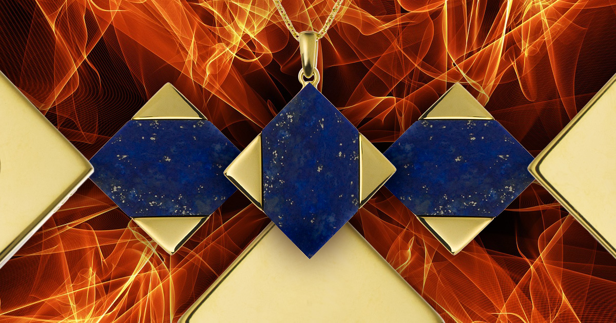 Triangle and sacred geometry in jewellery