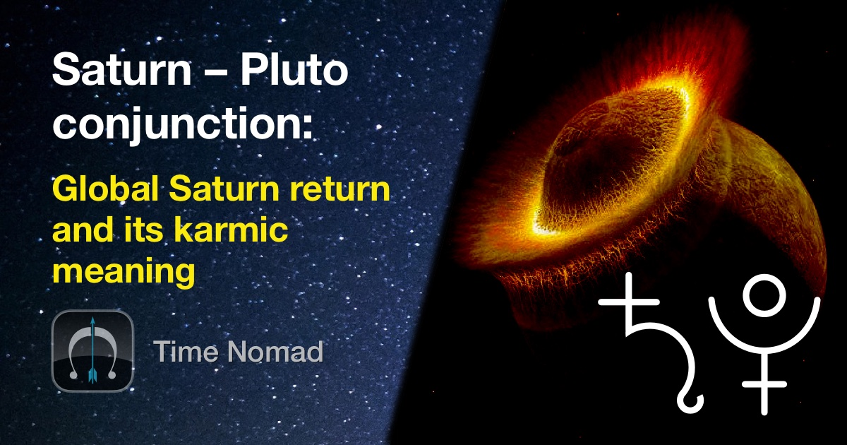 The timeline of Saturn – Pluto conjunction of years 2019