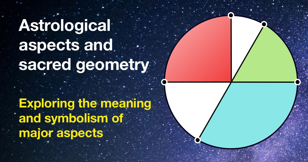 Astrological aspects and sacred geometry
