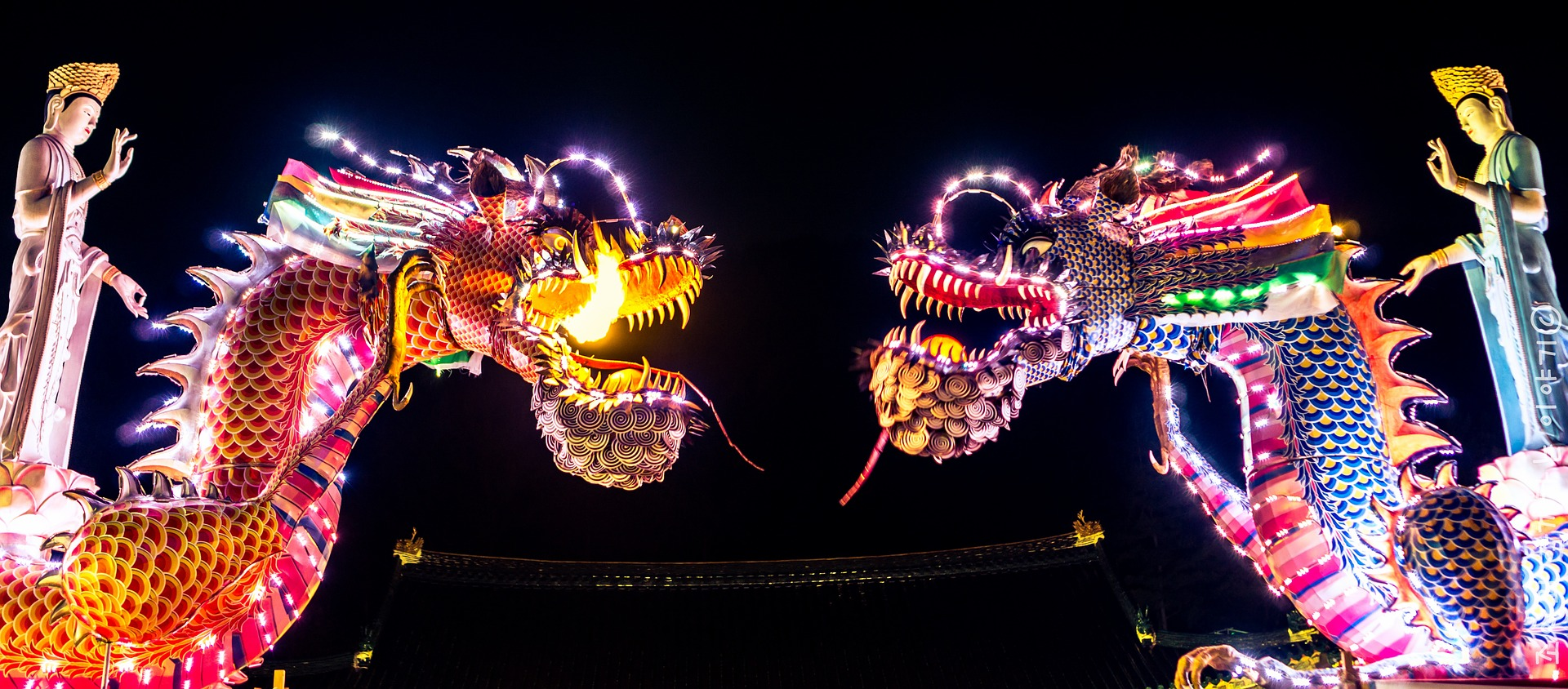 Chinese dragon installation