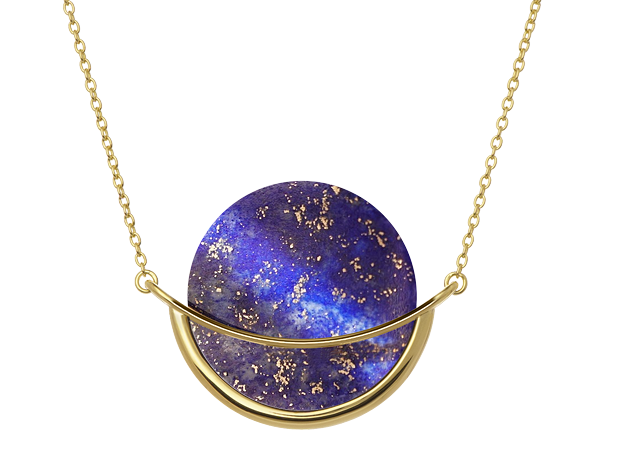 Lapis lazuli gemstone necklace by Gems In Style jewellery