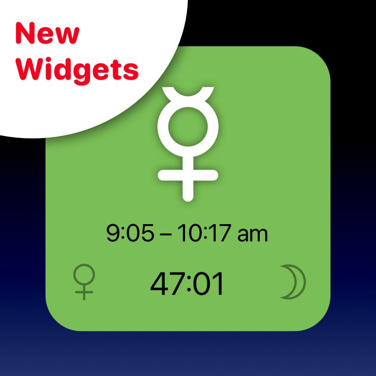 Planetary hour widget