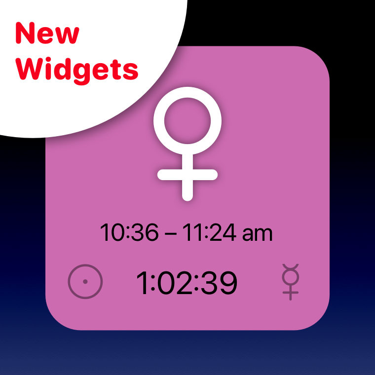 Planetary hour widget