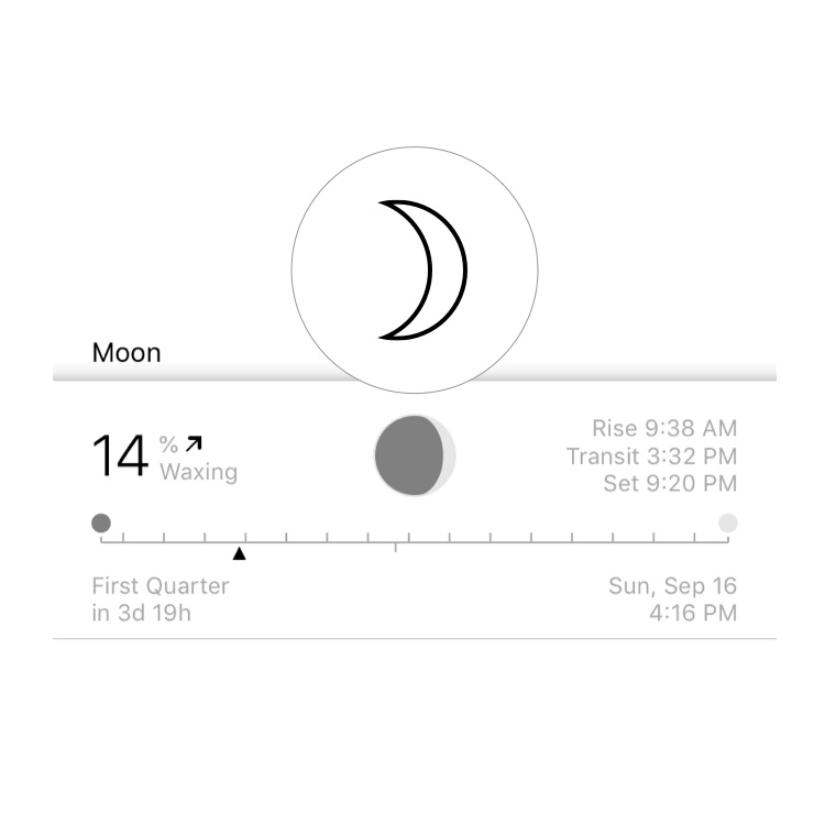 Moon cycle, created by Time Nomad app