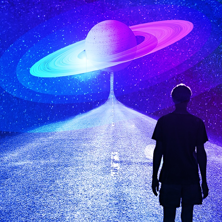 Man walking towards Saturn return