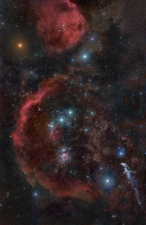 Constellation of Orion, astrophography by Rogelio Bernal Andreo