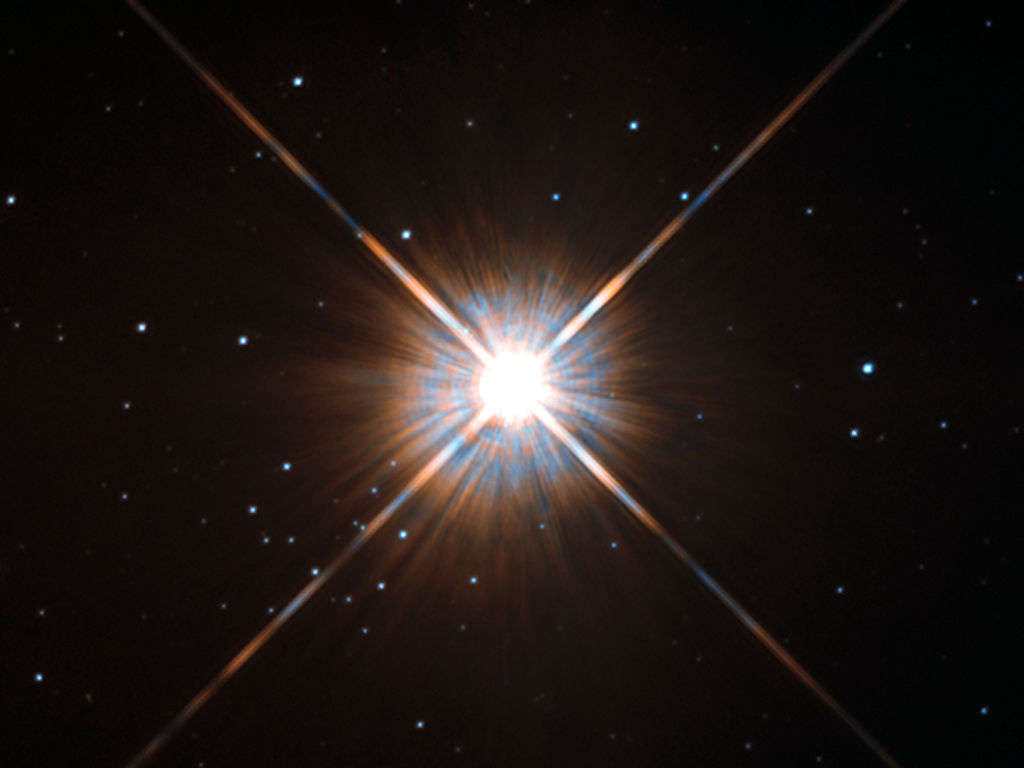 Proxima Centauri is a small star that is the closest to the Solar System
